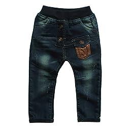 Little Boys\' Pants Denim Cotton Jean Open-seat Clothing Size 4-5 Years