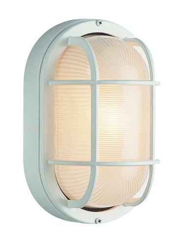 Trans Globe Lighting 41005 VG 8-1/2-Inch 1-Light Medium Outdoor Bulkhead, Verde Green