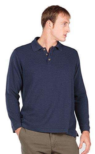 Men'S Long Sleeve Polo (Cambridge) Mb1104-Mid-S front-954418