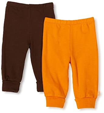 Disney Baby-Boys Newborn 2 Pack Pull-On Pant, Brown/Orange, 6-9 Months