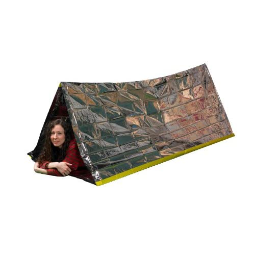 Emergency Thermal Tent by Grizzly Gear is made of the same Mylar material as our emergency blanket but is formed into a tube tent to prevent heat loss even more efficiently.This compact tube tent provides warmth (retains and reflects up to 90 of body...