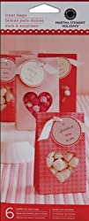 Martha Stewart Mini Treat Bags 6/Pkg-Valentine-Paper; 3 Items/Order