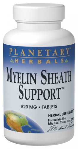 Planetary Herbals Myelin Sheath Support, 820 Mg, Tablets, 180 Tablets
