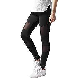 Urban Classics Damen Ladies Tech Mesh Leggings, Schwarz (Black 7), W36 (Herstellergröße: S)