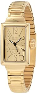 Glam Rock Miami Beach Art Deco collection MBD27154 26mm Stainless Steel Case Gold Plated Stainless Steel Mineral Women's Watch