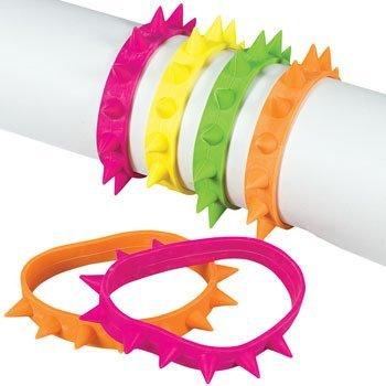 Fun Express Neon Spike Bracelets