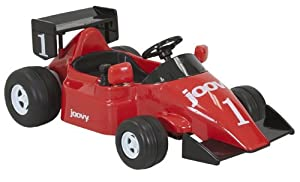 JOOVY Race Car Ride On (12 Volt, 2 Motors, 5 MPH, Battery Powered), Red