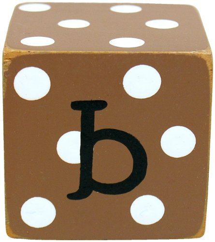 New Arrivals Letter Block B, Chocolate/White