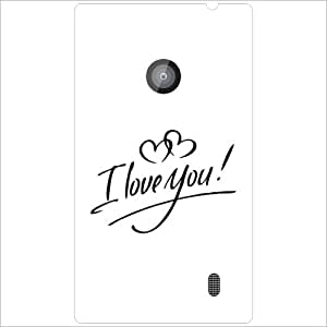 Nokia Lumia 520 - Lazer Print I Love You Designer Cases