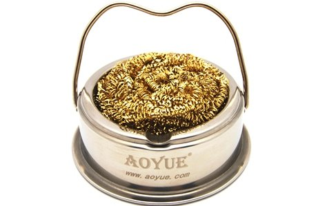 Purchase Aoyue Soldering Iron Tip Cleaner with Brass wire sponge, no water needed