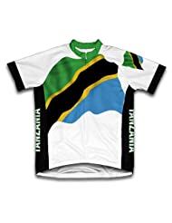 Tanzania Flag Short Sleeve Cycling Jersey for Women
