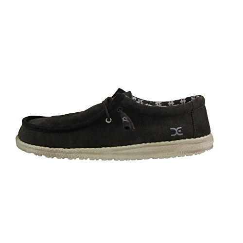 Hey Dude Wally Suede Cioccolato Scarpe, marrone (Browns), 44 EU