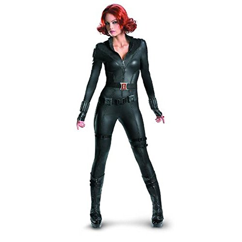 Disguise Womens Black Widow Halloween Party Superhero Costume