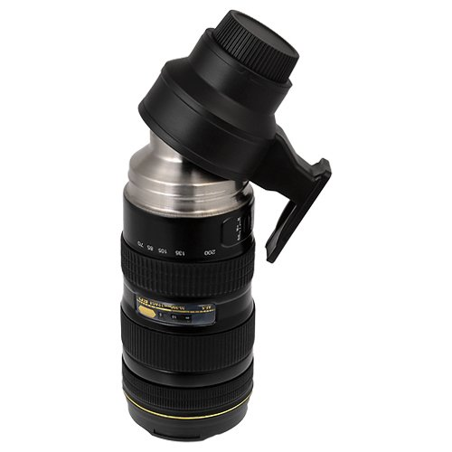 Amazon.com | Thermo LenZcup, Stainless Steel Insulated, Travel Thermos w/ Cup (Modeling Nikkor AF-S 70-200mm f/2.8G ED VR II Lens), 16oz: Travel Mugs: Tumblers