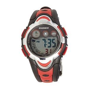 LED Waterproof Sports Digital Watch for Children Girls Boys (Red)