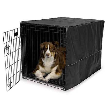 Midwest Quiet Time Pet Crate Cover Black 42