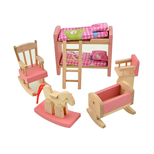 Dreams Mall Wooden Doll House Furniture Set Toy For Baby Kids Kids Bedroom Sets