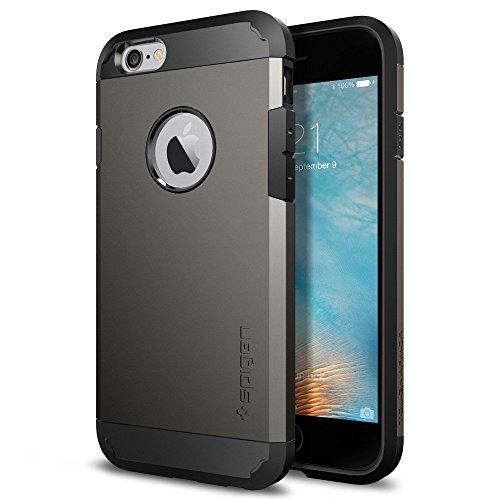 【Spigen】 iPhone6S / iPhone6 ケース タフ・アーマー 米軍MIL規格取得 耐衝撃カバー (ガンメタル SGP11612)