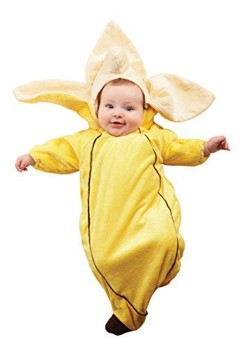 [Underwraps Costumes Baby's Banana Bunting, Yellow, Infant] (Banana Bunting Costumes)