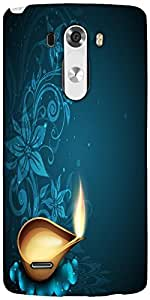 Snoogg Greeting Card For Diwali Celebration In India Designer Protective Back Case Cover For LG G3