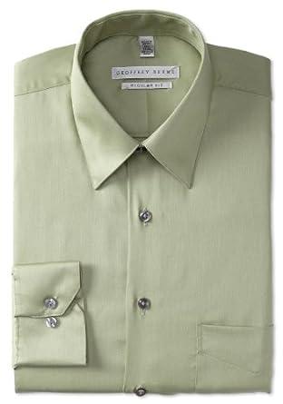 Geoffrey Beene Men's Regular Fit Sateen Dress Shirt, Cypress,14.5/32-33