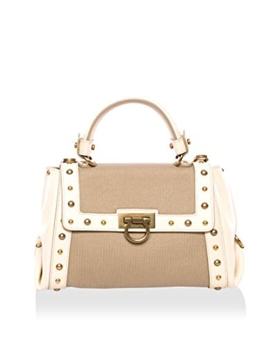 Salvatore Ferragamo Women's Satchel Bag, Beige/Light Brown