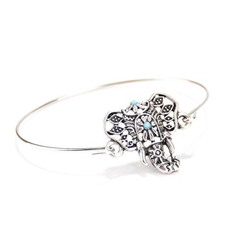 Banggood New Fashionable Women Beach Pendant Turquoise Elephant Bangle Bracelet Jewelry by Bangood
