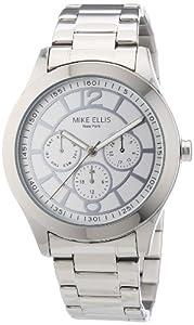 Mike Ellis New York Damen-Armbanduhr Analog Quarz Edelstahl M2756ASM/1