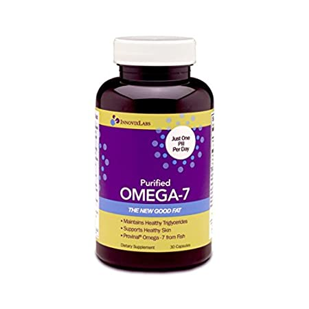 Purified OMEGA-7 : 1. Concentrated Palmitoleic Acid - 210 mg per Capsule - Purified to deliver higher levels of Palmitoleic Acid (triglyceride form) Omega-7 - Just one easy-to-swallow pill per day - Powerful Benefits in a Small Dose 2....