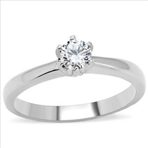 Brilliant cut .5ct cz Solitaire Engagement Ring 316 Stainless Steel Cubic Zirconia (10)