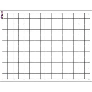 Trend Enterprises Graphing Grid (Small Squares) Wipe Off Chart (T-27305) - 1