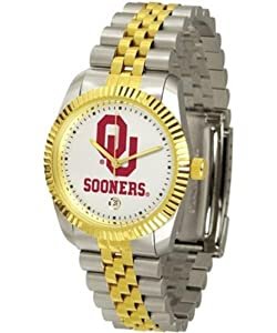 Oklahoma Sooners OU NCAA Mens Steel Executive Watch by SunTime