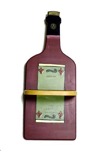 Cheap plaques wooden wine bottle plaque wall decor shelf for Wine decor for kitchen cheap