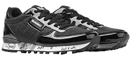 Break&Walk Donna Sneakers Mujer Textil scarpe sportive nero Size: 39