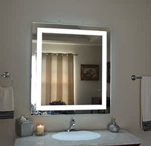 wall mounted lighted vanity mirror led mam83640 commercial grade. Black Bedroom Furniture Sets. Home Design Ideas