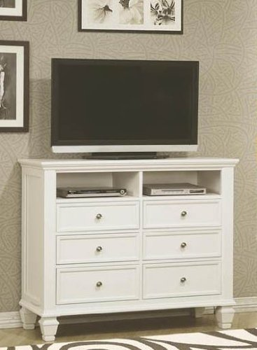Coaster Home Furnishings Country Media Chest, White front-235356
