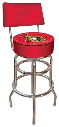 Nhl Ottawa Senators Padded Bar Stool With Back Roxikollr