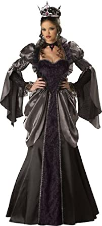 InCharacter Costumes, LLC Wicked Queen Adult Long Sleeve Gown, Black, Small