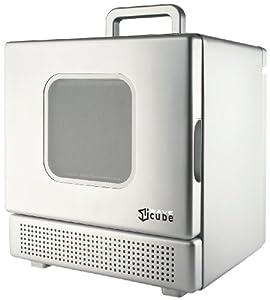 iWavecube IW600SIL 600-Watt Personal Desktop Microwave Oven, Silver