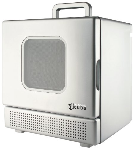 Compact Microwave Oven Iwavecube Iw600sil 600 Watt Personal Desktop Microwave Oven Silver