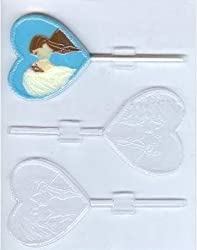 Bride And Groom On Heart Pop Mold