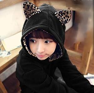 可愛い ねこ ちゃん! 猫 耳 フード 付き パーカー プルオーバー (MAUMU)