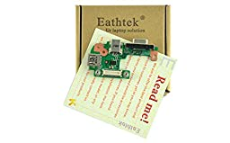 Eathtek New DC Power Jack / VGA / USB IO Circuit Board for Dell Inspiron 15r (N5110) Vostro 3550 PFYC8 series
