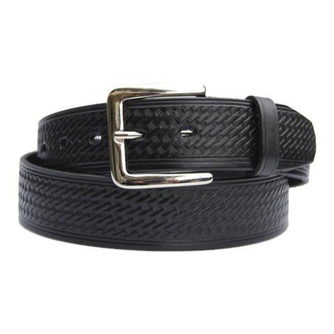 Uniform Belt Co. 1.5-inch Basketweave Garrison Belt - Rounded Buckle - 040 - 40 inches