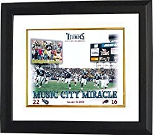Music City Miracle unsigned Tennessee Titans 8x10 Photo Custom Framed by Hall of Fame Memorabilia
