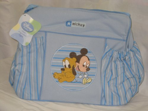 Disney Baby Large Diaper Bag Mickey Blue - 1