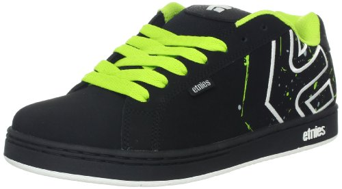 Etnies Mens Fader LS Shoes Footwear,Black/White/Print,10.5