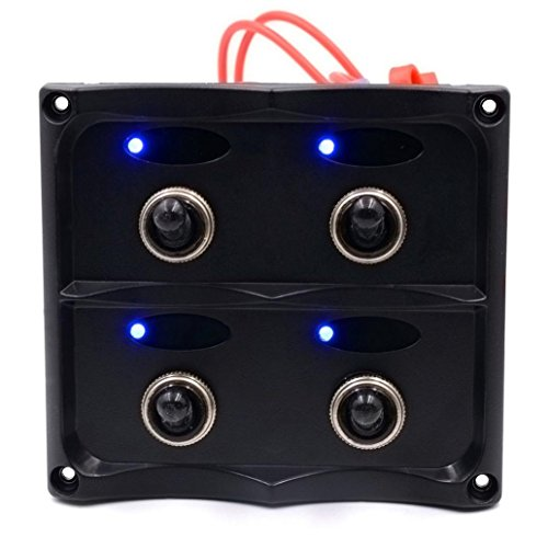 LED-SWITCH-hansee-4-fach-wasserdicht-Auto-Boot-Marine-LED-SWITCH-PANEL-kreislufen