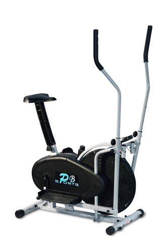 NEW 2 in 1 Elliptical Cross Trainer and Exercise Bike With Seat Cardio (Without Middle Bar)