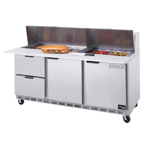 Beverage-Air Commercial Food Prep Tables 72 Sped72-12C-2